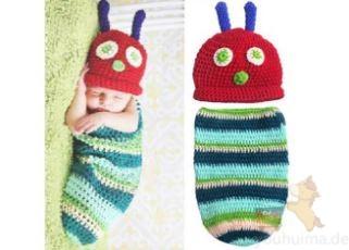 新生儿超萌手织毛线睡袋仅售10欧左右