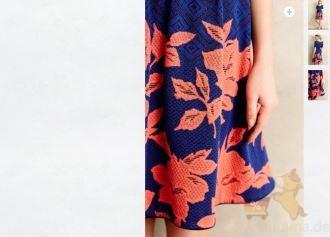Anthropologie 5折美裙推荐Blushed Blooms Dress