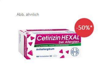 CETIRIZIN HEXAL强抗过敏药直减15欧