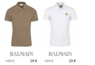 日装之王Balmain 短袖polo衫29折,可直邮中国