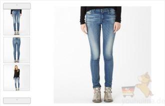 原价156欧的DIESEL修身高腰女性牛仔裤降至85,95欧