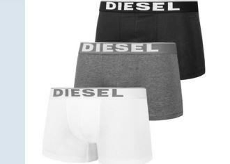 diesel最经典男士内裤boxer三条仅售27欧