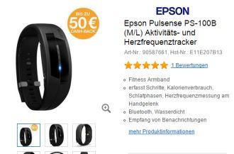日本EPSON心率有氧手环八折还返50欧现金