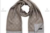原价200欧正品Gucci纯棉印花大围巾仅售149欧