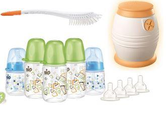 德国昵哺nip新生儿奶瓶及速冷器等配件套装仅需65,99欧