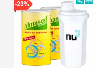 减肥圣器德国Almased阿尔马塞德天然蛋白粉代餐粉两罐仅需36,39欧加送小水壶