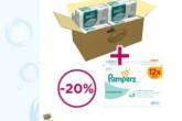 Pampers帮宝适婴儿纸尿片240片装加送672片湿巾只需59,96欧
