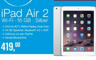 仅限今天,最新版ipad air 2仅售419欧
