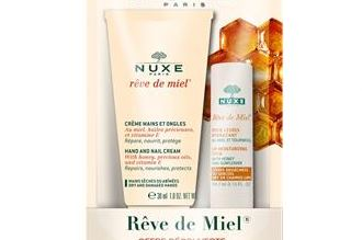 nuxe欧树买蜂蜜护唇膏送护手霜啦,只要7.95欧
