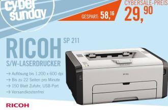 原价88欧的日本理光激光打印机仅售29.9欧,数量有限只在今天