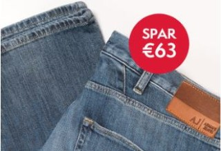 Armani Jeans男士牛仔裤立减63欧