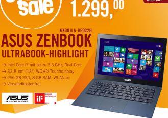 华硕超薄高端商务笔记本Asus Zenbook今日秒杀直降300欧