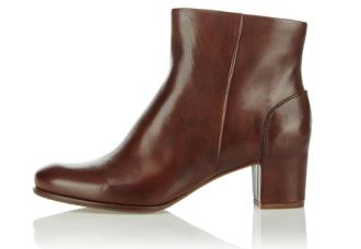 原价155欧的爱步Ecco女性皮质小短靴只需79,95欧
