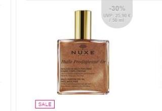 nuxe全效护理油炫亮特别版6折,100毫升装只要26.95欧