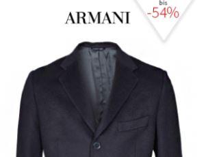 奢侈品打折网fashionesta特价ARMANI男士长款大衣减至四折