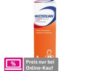 婴幼儿适用的MUCOSOLVAN沐舒坦止咳化痰滴剂 只要7.98欧