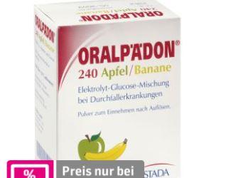 拉肚子时补充电解质的德国Oralpädon补液盐便携包只要2.99欧一大盒