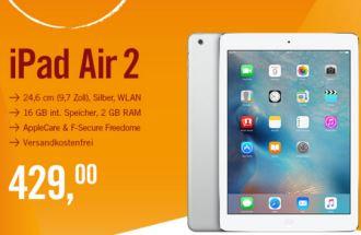 ipad air 2秒杀价只要429欧,只在今天