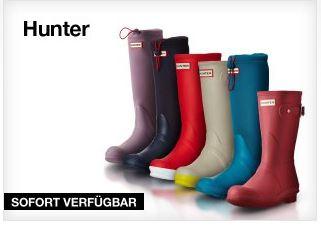 Hunter猎人时尚特制雨靴39,95欧起