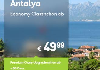 condor航空公司最新特价,飞土耳其安塔利亚只要49欧起