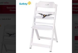 全白色美国名牌safety 1st宝宝餐椅,4折热销中