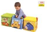 超实用超柔软的维尼玩具整理箱三个一组半价中