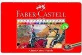 辉柏嘉Faber-Castell彩铅经典入门版36色铁盒装