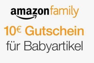 amazon family送每个新注册成员10欧元,买满50欧可用