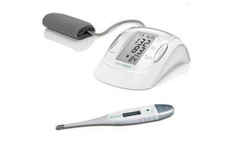 MEDISANA上臂式血压仪+电子体温计套装30,92欧