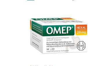 Hexal omep平衡胃酸治疗胃溃疡一天一粒即可