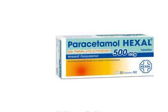 缓解感冒引起的止痛退烧药Paracetamol 500 mg只要1.48欧