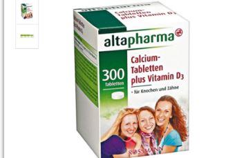 补钙的同时更要补充vd,altapharma高钙片都做到了仅售4.99欧