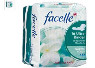 facelle卫生巾在rossmann网店仅售0,99欧