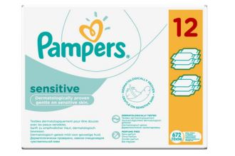 Pampers帮宝适超棉柔敏感系列湿巾特惠价672片仅需13,99欧