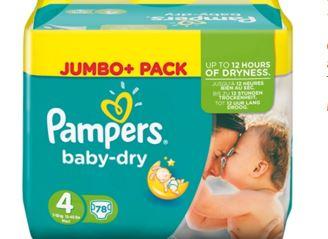 pampers baby dry4号有特价啦