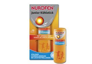 德国诺洛芬nurofen婴幼儿降温止痛棒6,99欧