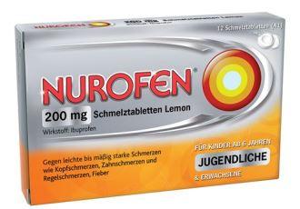 德国诺洛芬nurofen退烧止疼片仅需4,79欧