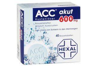 原价19欧的德国Hexal Acc止咳消痰泡腾片40片装低至9,68欧