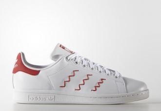 """adidas stan smith复古小白鞋再出新款""""波浪纹"""" zig zag七折"""