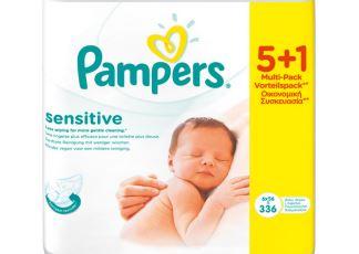 Pampers帮宝适超棉柔敏感系列湿巾336片分包装仅需6,45欧
