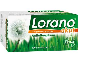 原价31,49欧的Lorano脱敏片100片仅需14.98欧