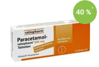 paracetamol-ratiopharm 500mg 扑热息痛止痛片只要1.49欧
