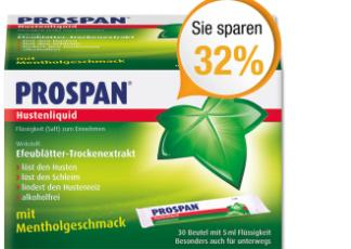 """便携版Prospan""""小叶子""""止咳糖浆150ml仅需6.99欧"""