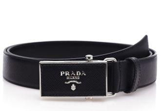 prada普拉达经典黑色皮带直降71欧