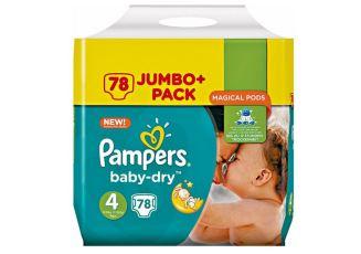 帮宝适纸尿裤12小时干爽绿帮4号jumbo pack大包仅需15,99欧