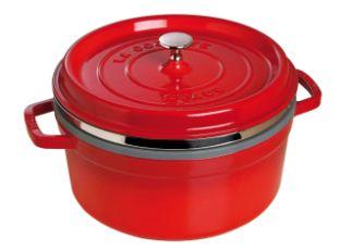 烹饪的必备精品:Staub铸铁锅红色仅需159.92欧