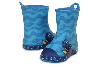 """crocs最新款儿童防水防滑中筒雨靴""""海底总动员""""系列"""