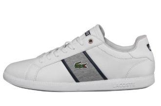 Lacoste男士休闲纯皮系带小白鞋仅售54.95欧
