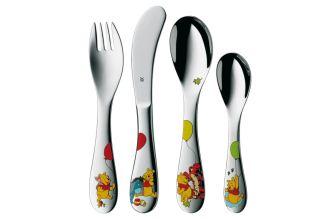 WMF小熊维尼儿童餐具四件套低至26.99欧,三岁起可用