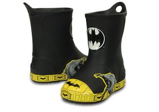 德国正品crocs新款童鞋蝙蝠侠儿童小雨靴低至49.99欧